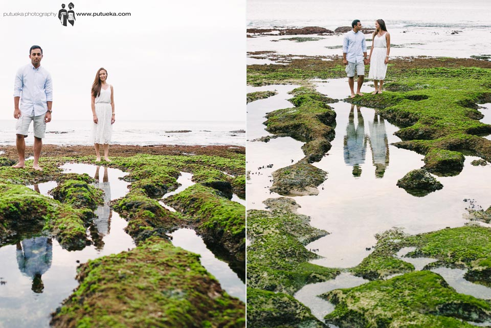 Love reflection everywhere for our engagement photoshoot