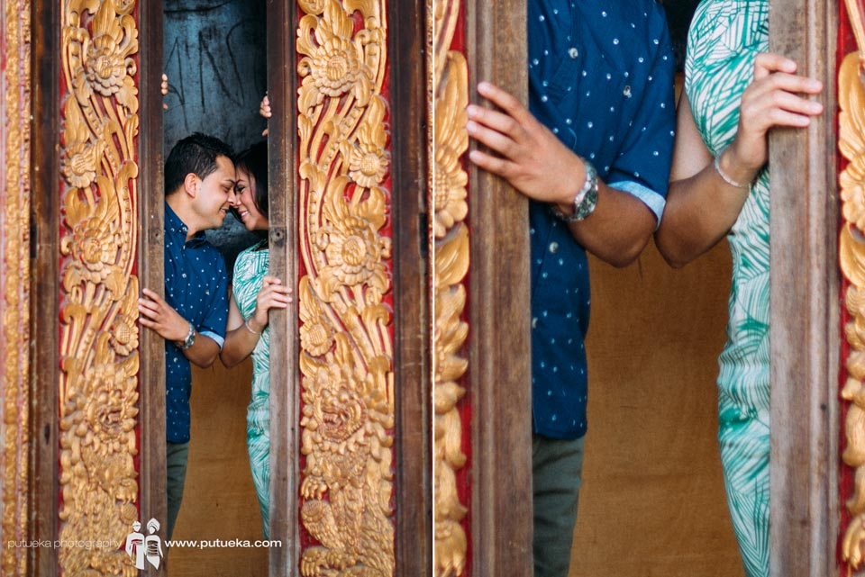 With you in the middle balinese door