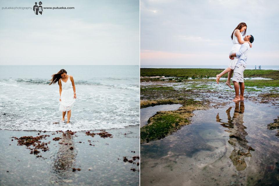 Bali pre wedding if Niel on the beach