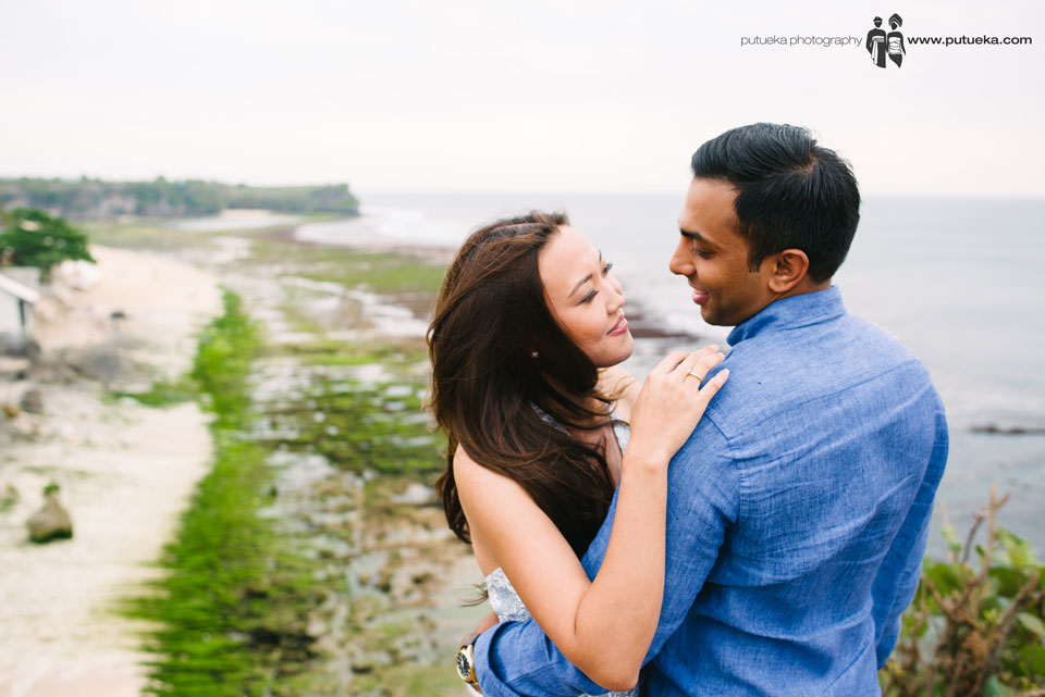 Lovely couple doing their engagement photography at Bali island