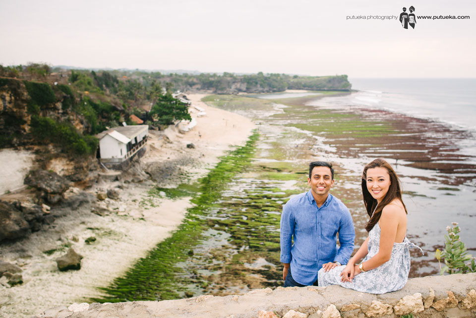 Smile of happines for doing engagement photography in Bali