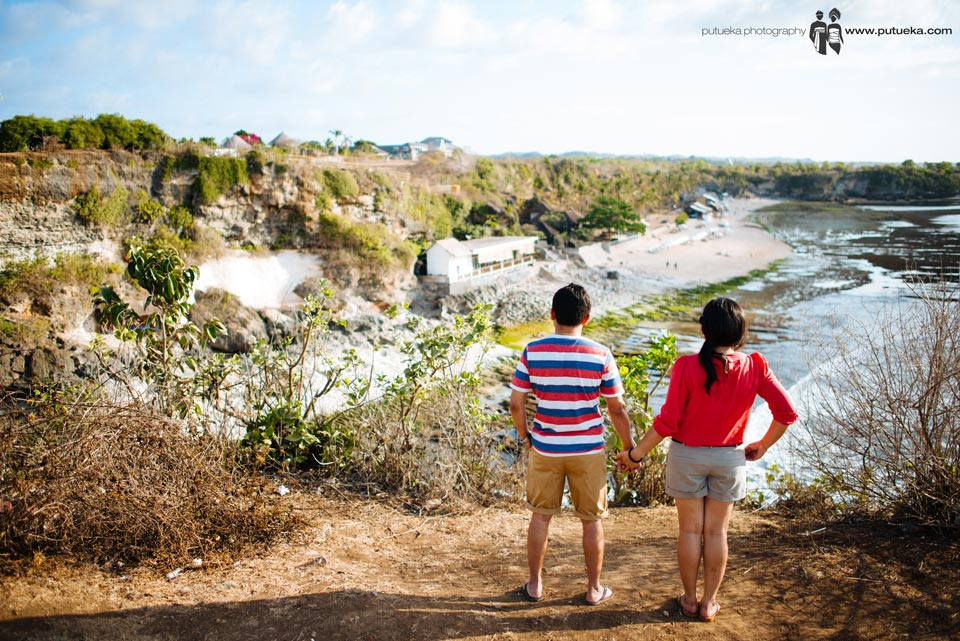 Awesome view of Bali prewedding photo session