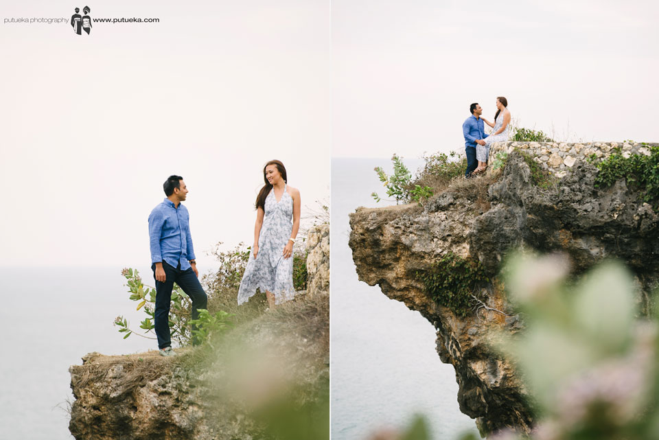 Take a engagement photoshoot on the edge of Bali cliff