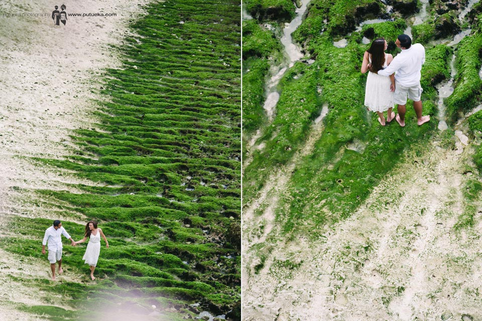 Walking down along the beach with you for our memorable pre wedding photography in Bali