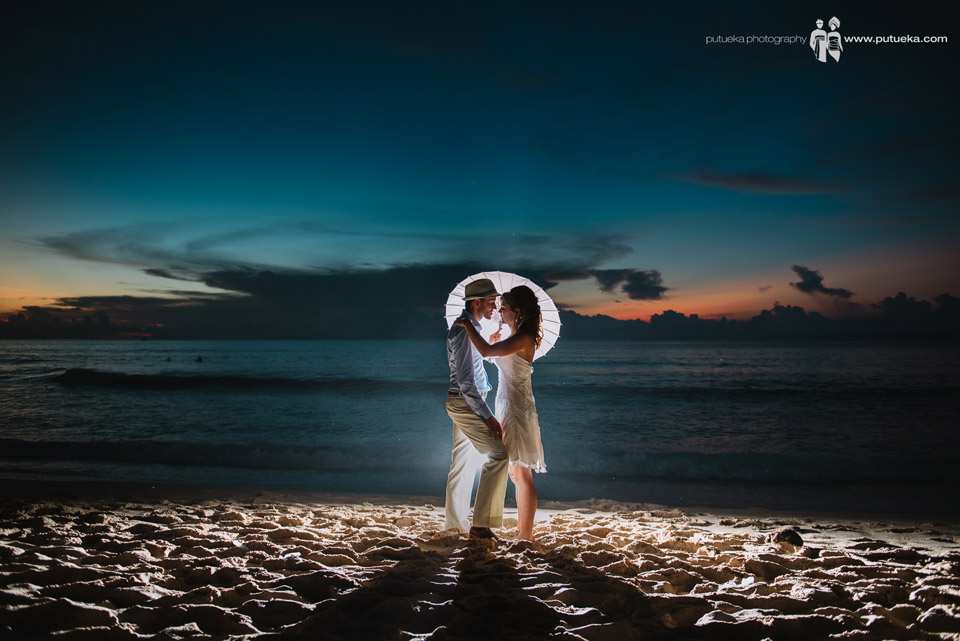 Bali wedding photography session after sunset