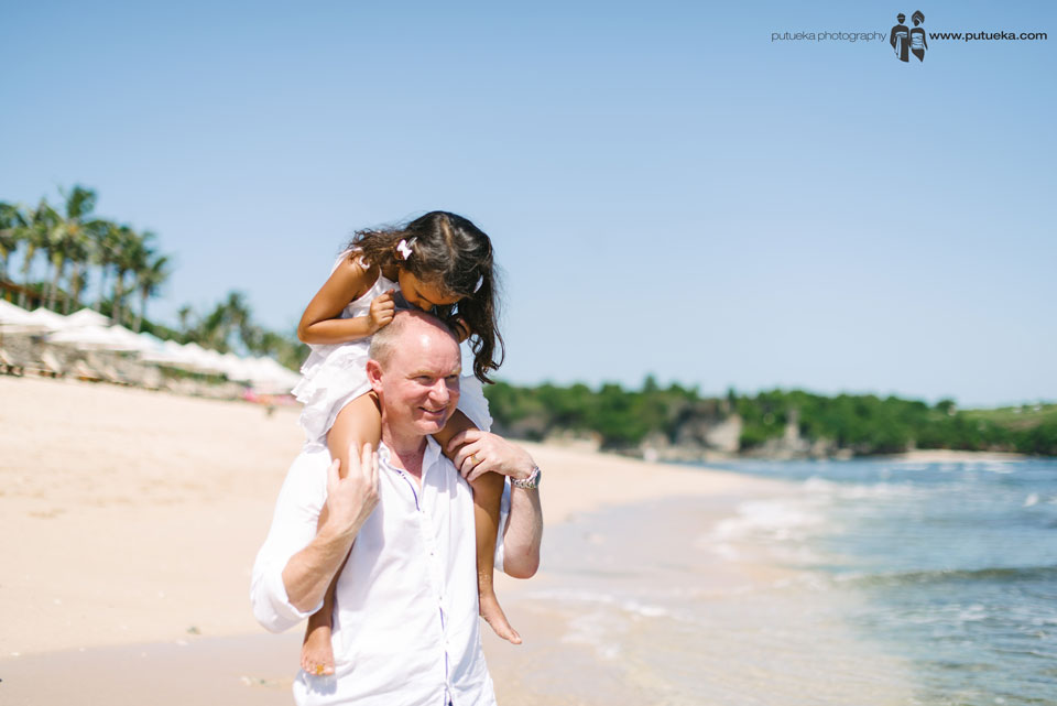 Lovely father and daughter on family session