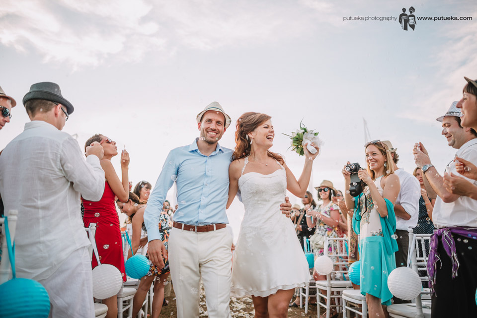 The happiness of Camille and Perrick from their wedding in bali