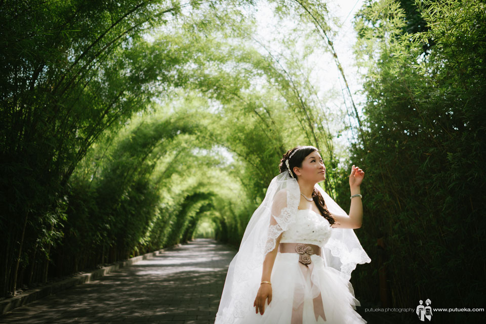 Gorgeous W hotel green bamboo for Ivy Bali pre wedding session