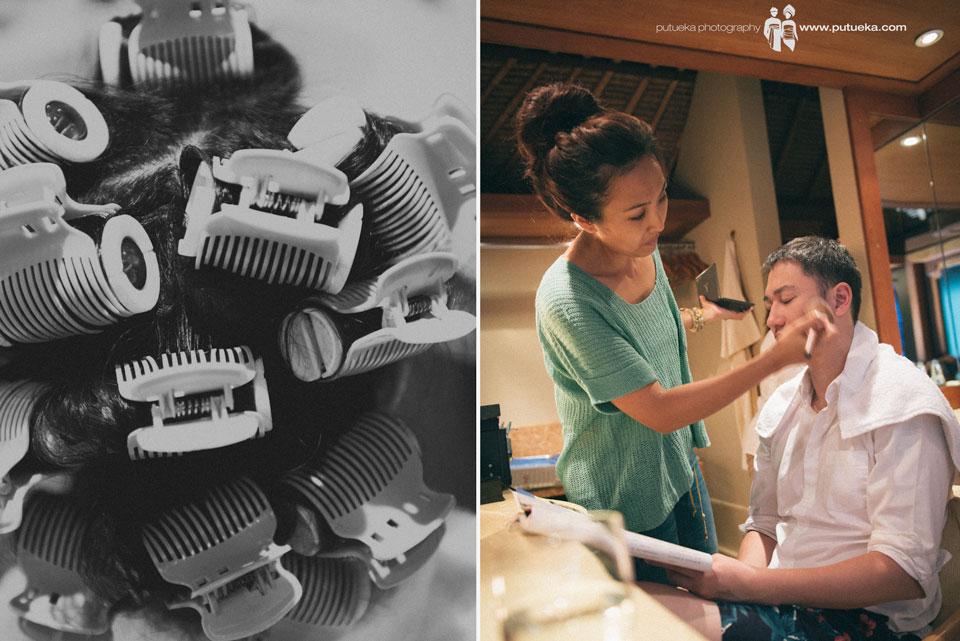 Jessie hair roll vs Boris makeup session