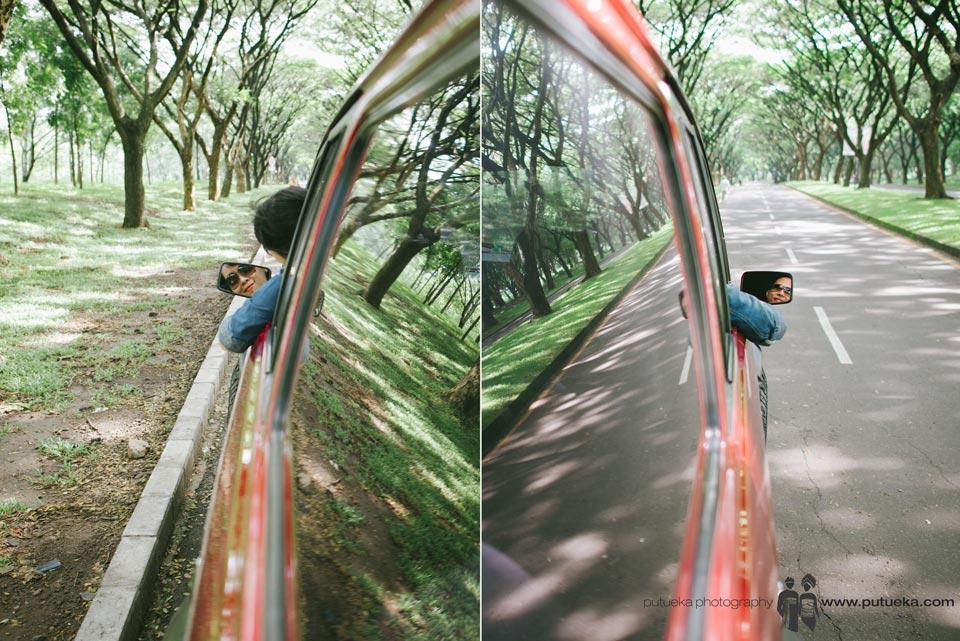 Seeing beloved ones in rear view mirror