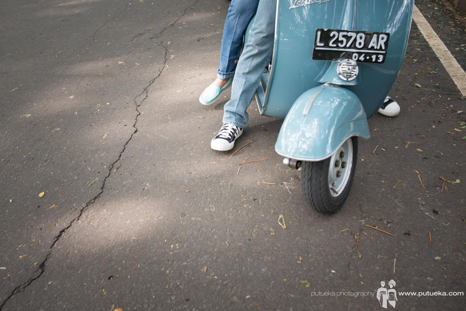 Lets start a new journey with our blue vespa