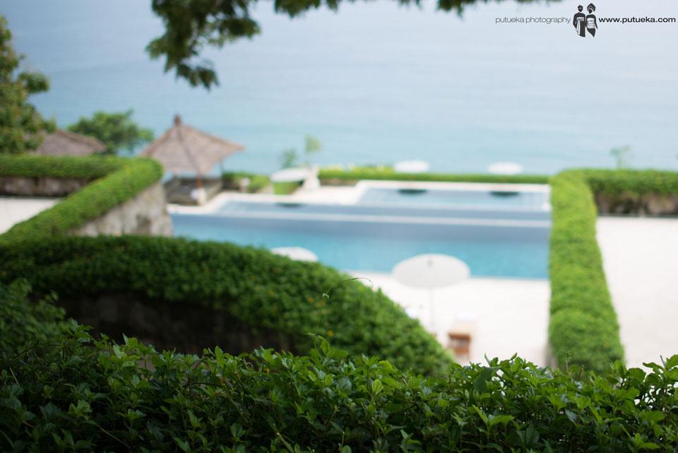 Sea view from Amankila lobby area