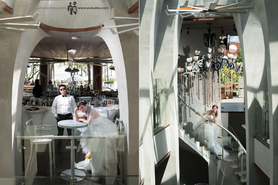 Gorgeous bar as a place of prewedding