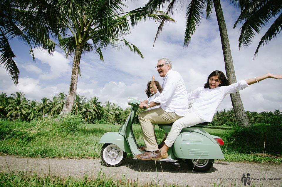 Happiness moment riding scooter in Bali that they can't forget