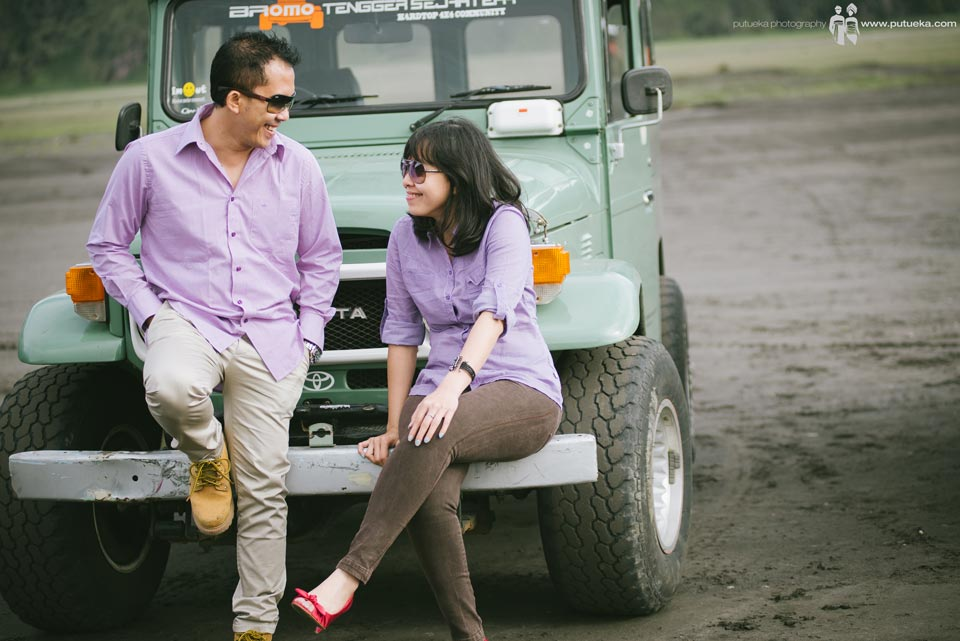 Romantic chit chat at majestic Bromo mountain