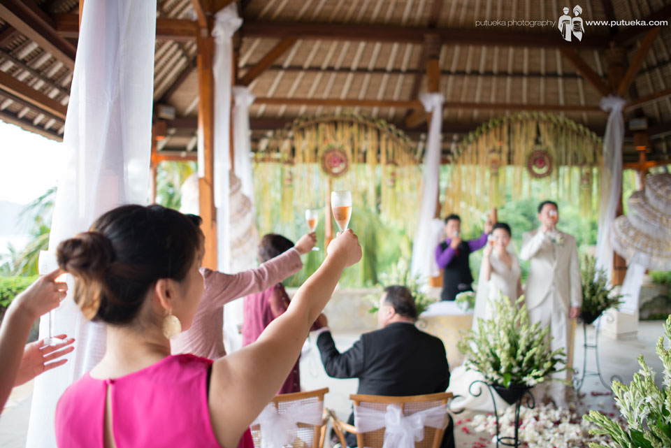 Wine toast with all the guest