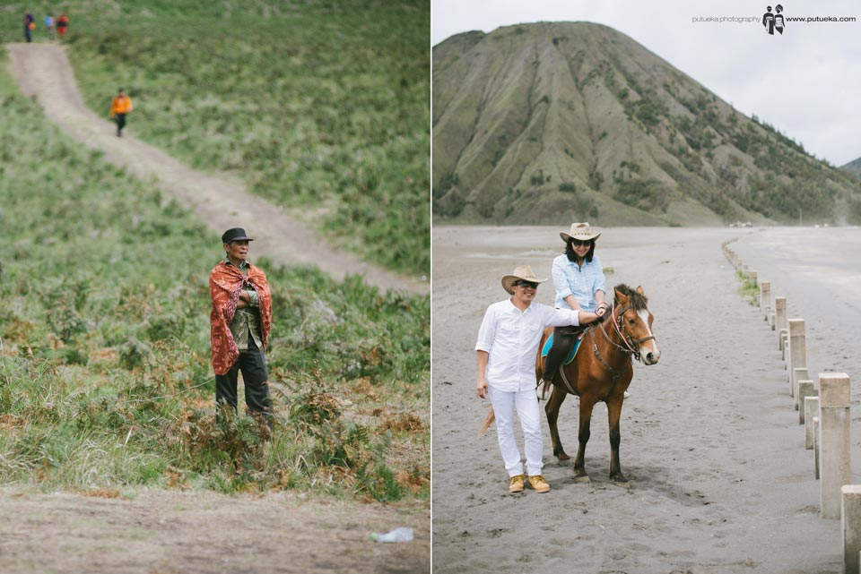 Riding horse at Bromo mountain
