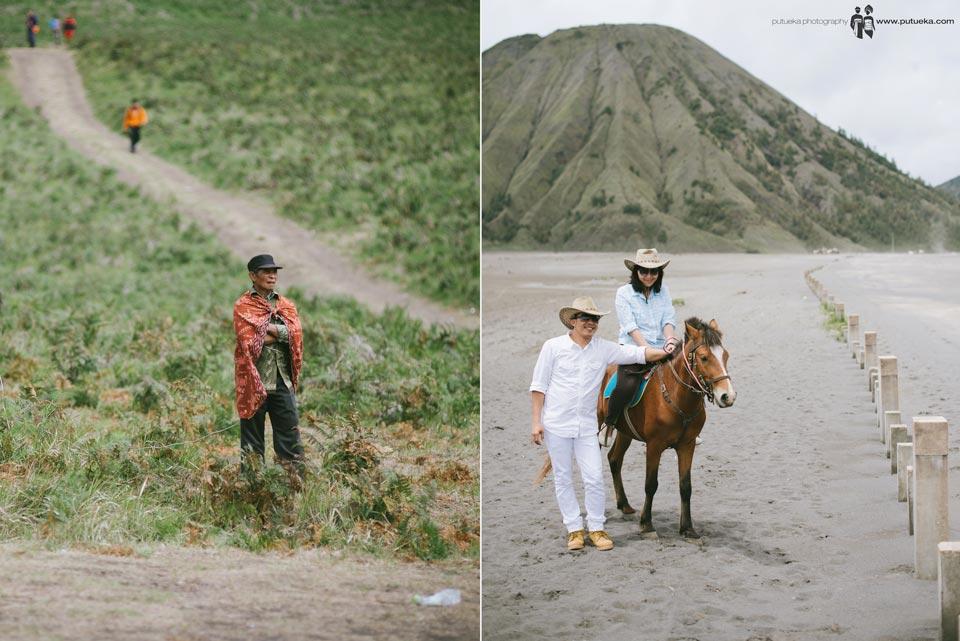 Riding horse at Bromo mountain