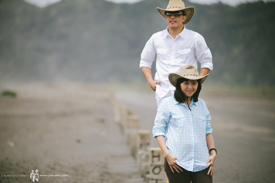 Just two of us in the heart of Bromo desert