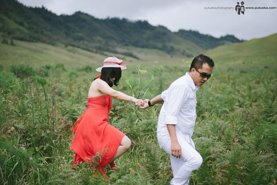 Guide me through Teletubbies hill prewedding session