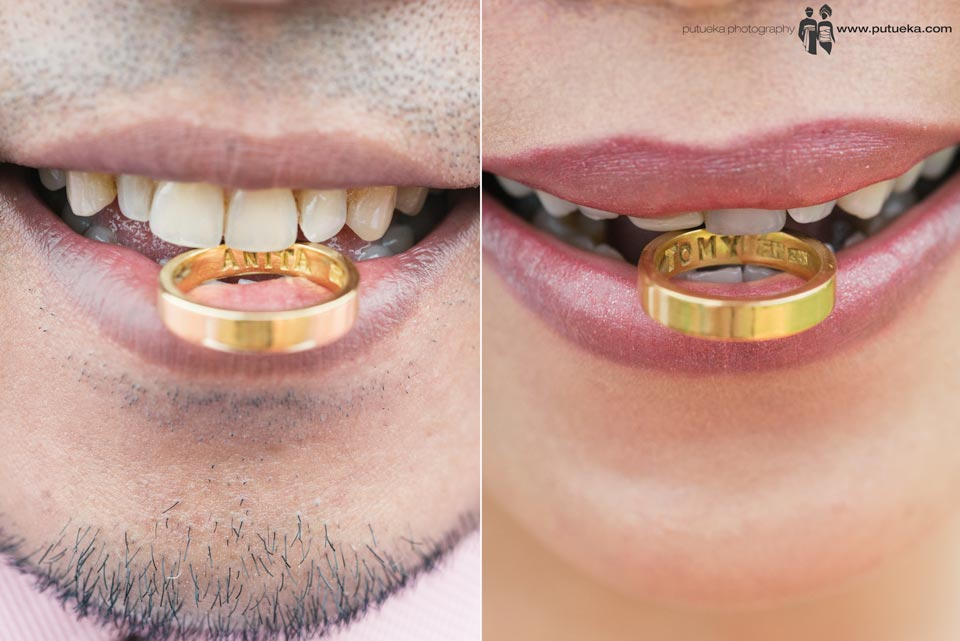 We bites our gold wedding ring