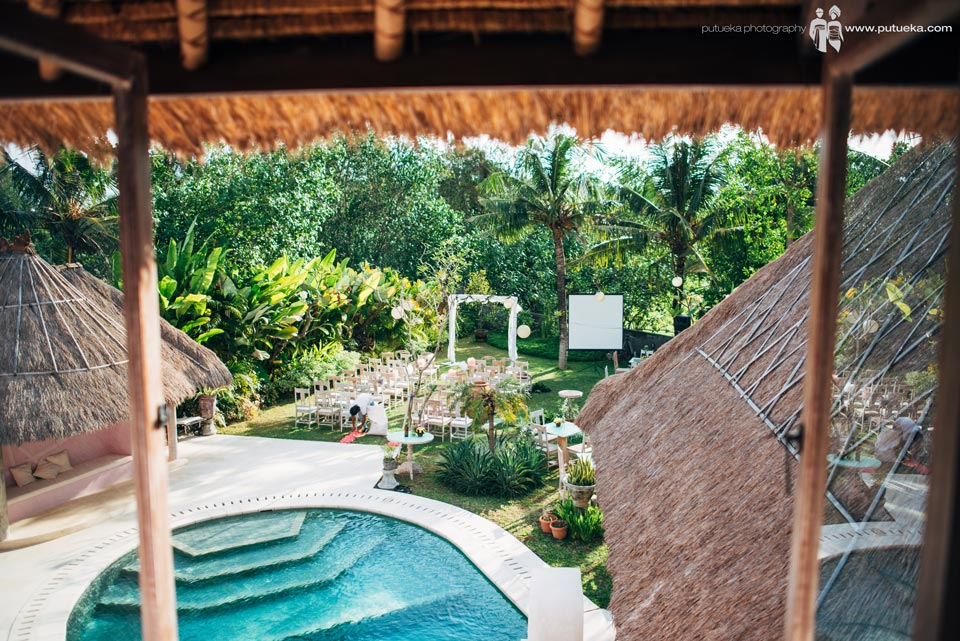 Wedding venue view from master bedroom of Hacienda villa no 5