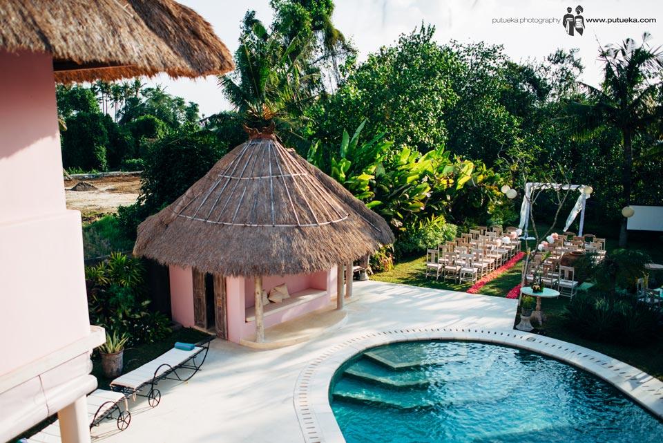 View of wedding venue from Hacienda villa no 5 balcony