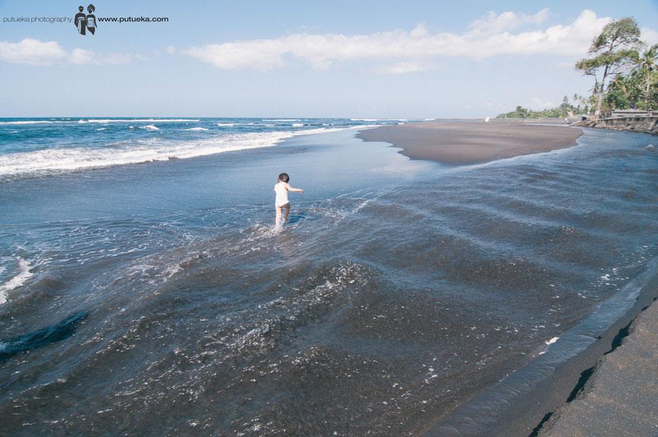 Running through the water