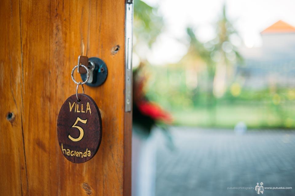 Door key of Hacienda villa no 5