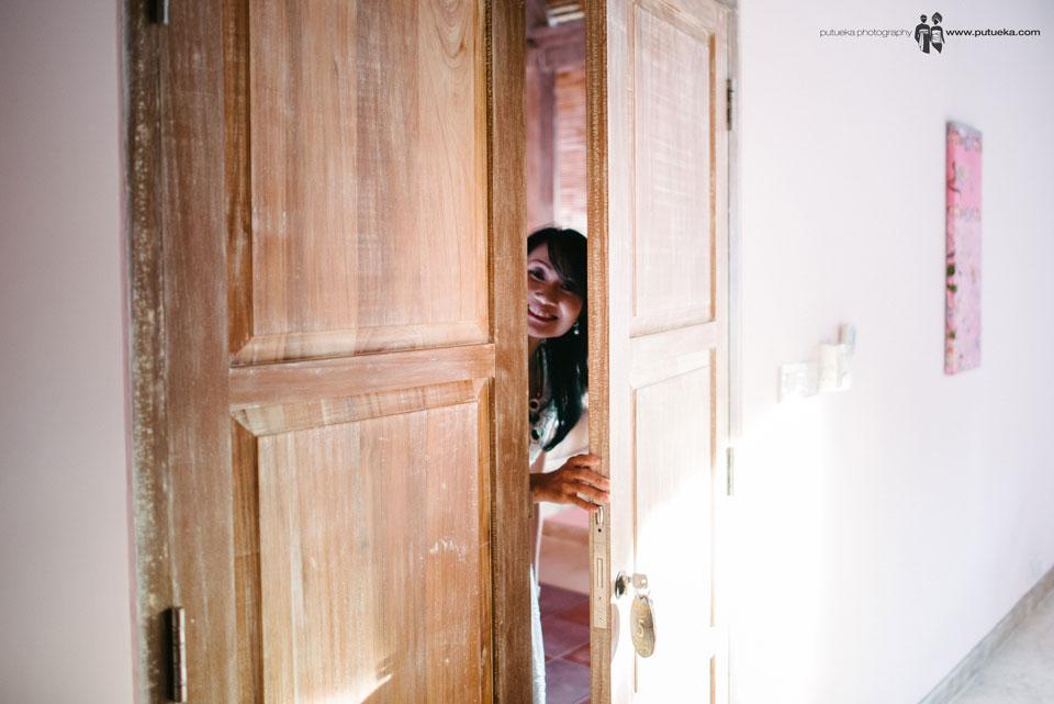 Relative peeking to master bedroom