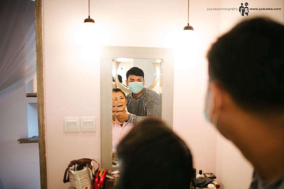 Ayu bridesmaid in makeup session