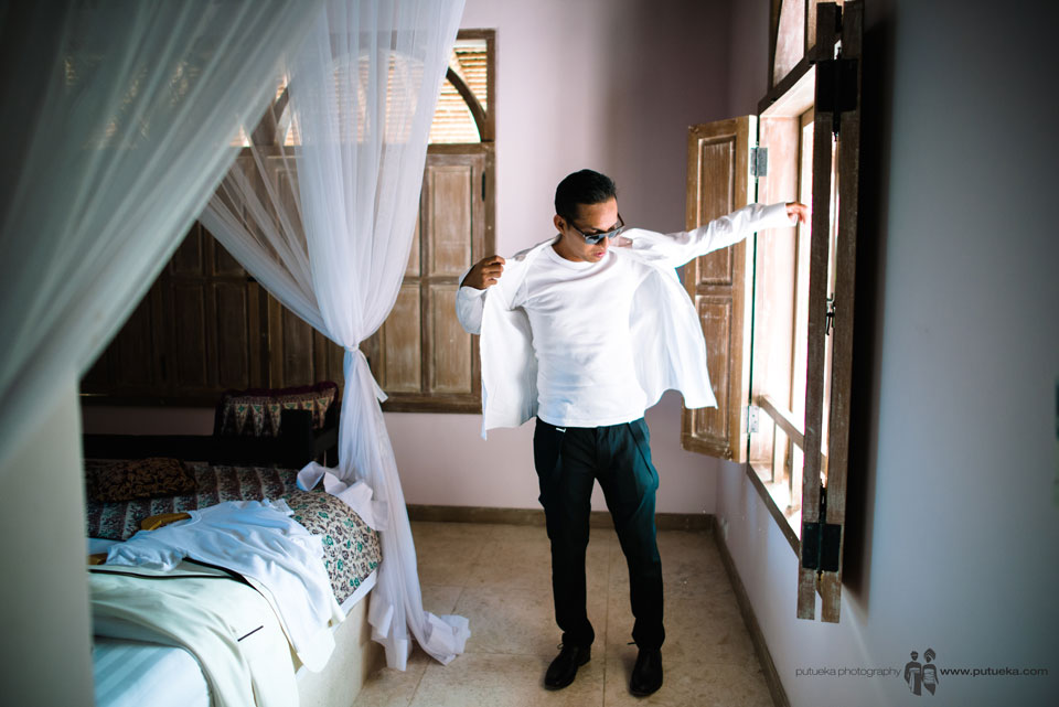 Hakim wearing tuxedo