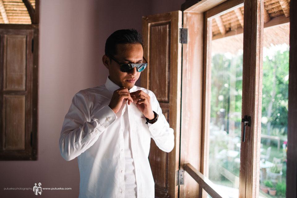 Hakim preparation for the wedding