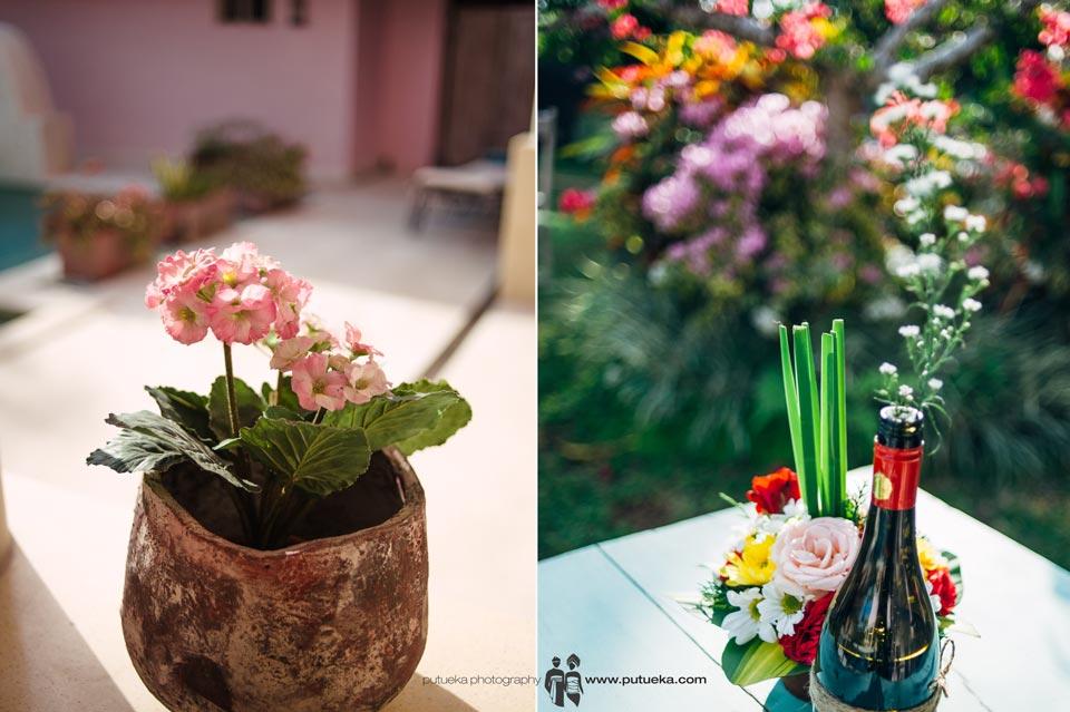 Flower vase from Ayu and Hakim wedding decoration