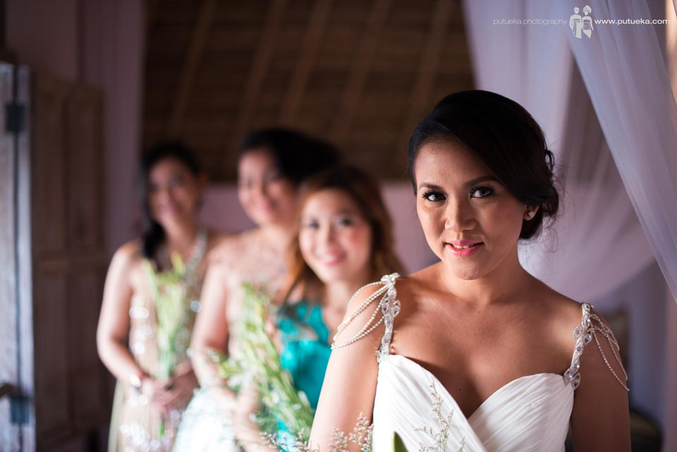 Ayu with her bridesmaid