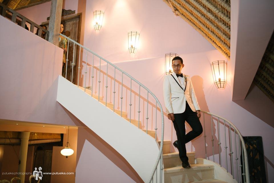 Hakim walking down to wedding venue