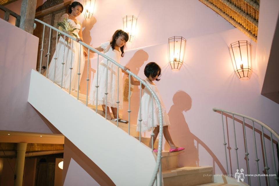 Ring bearer walking down to wedding venue