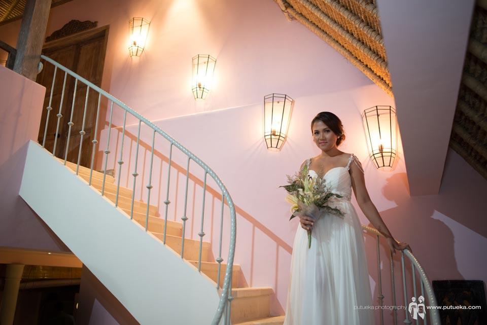 Brides walking down to wedding venue