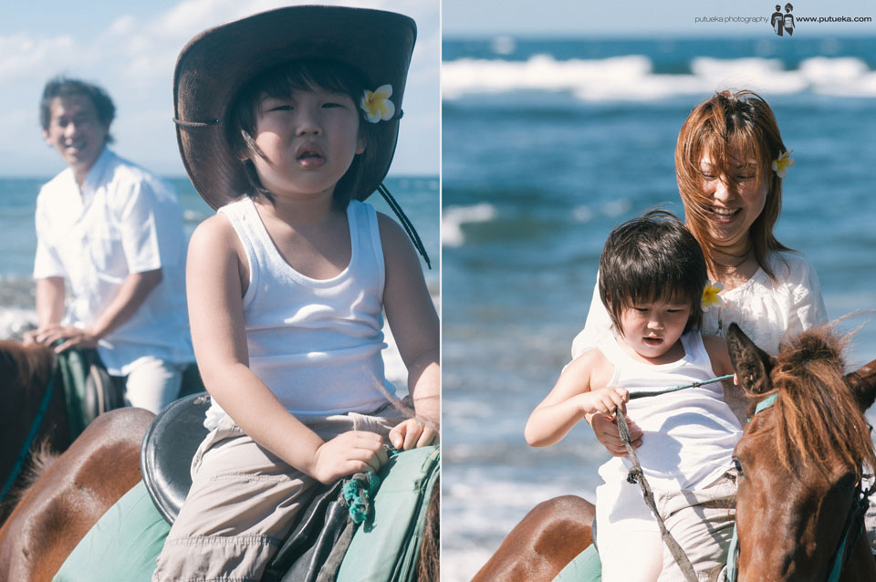 Riding horse with family are make stronger bond with other family member