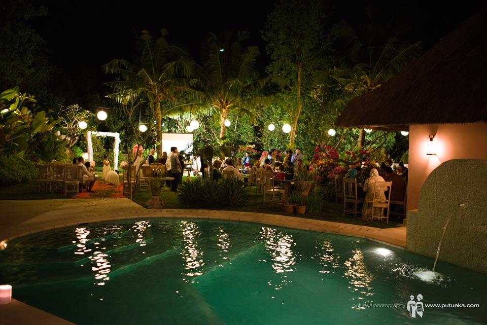 Wedding venue in the night