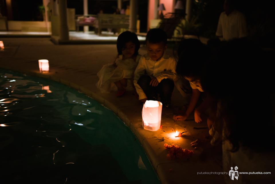 Kids playing with candle