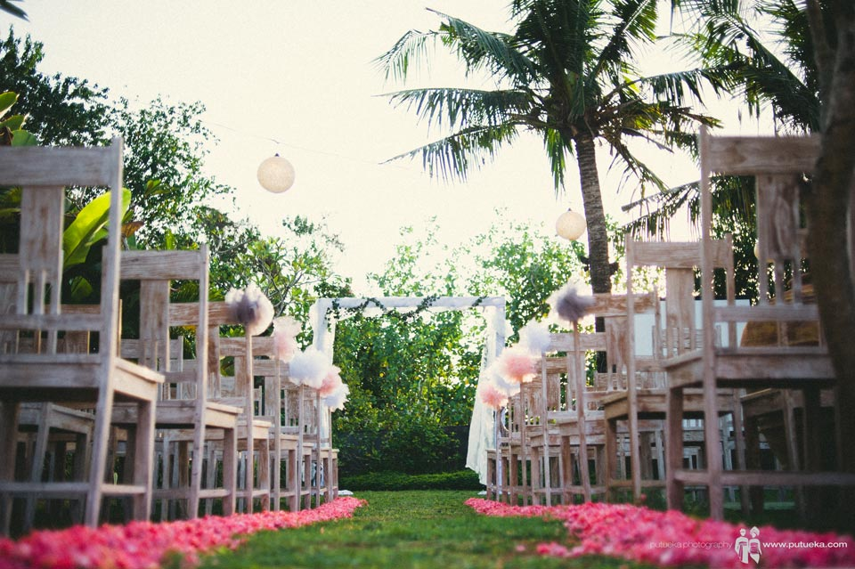 Wedding venue of Ayu and Hakim at Hacienda villa no 5