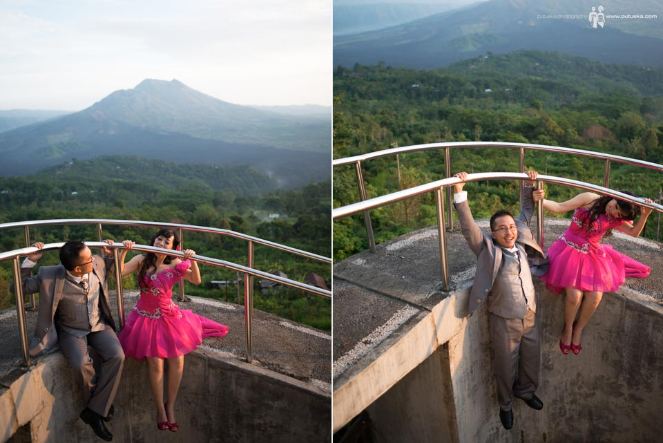 Silly engagement session at Kintamani Bali
