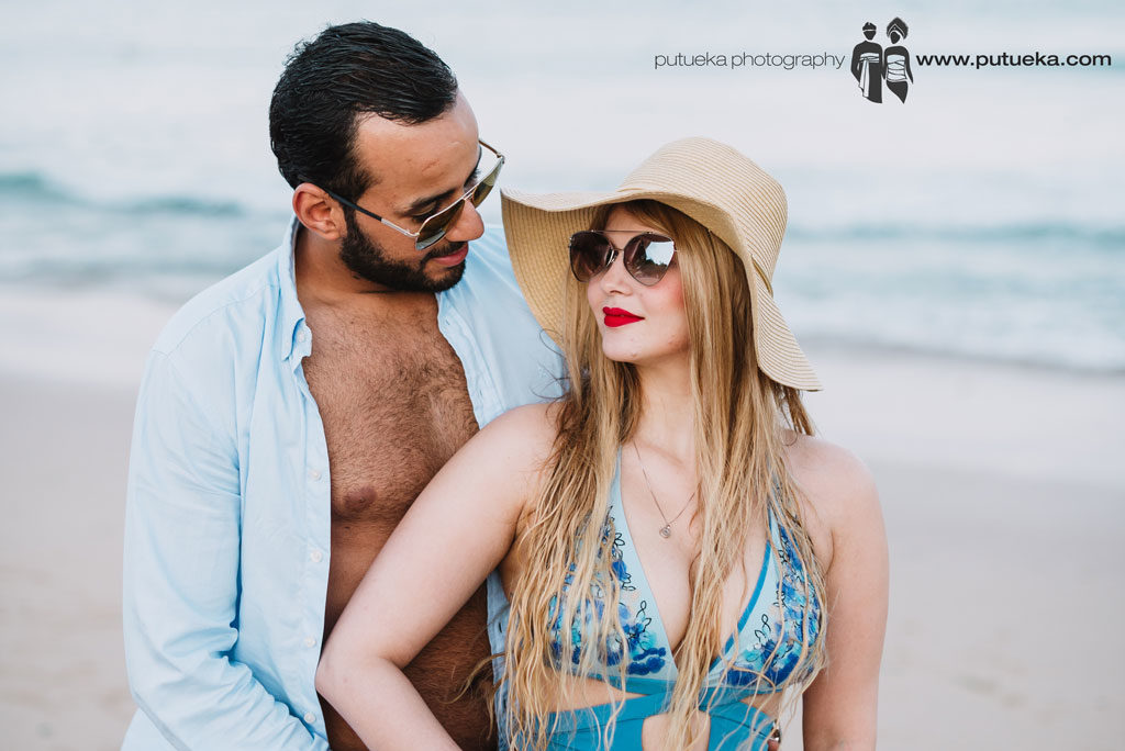Honeymoon in bali photography session at Nusa Dua beach